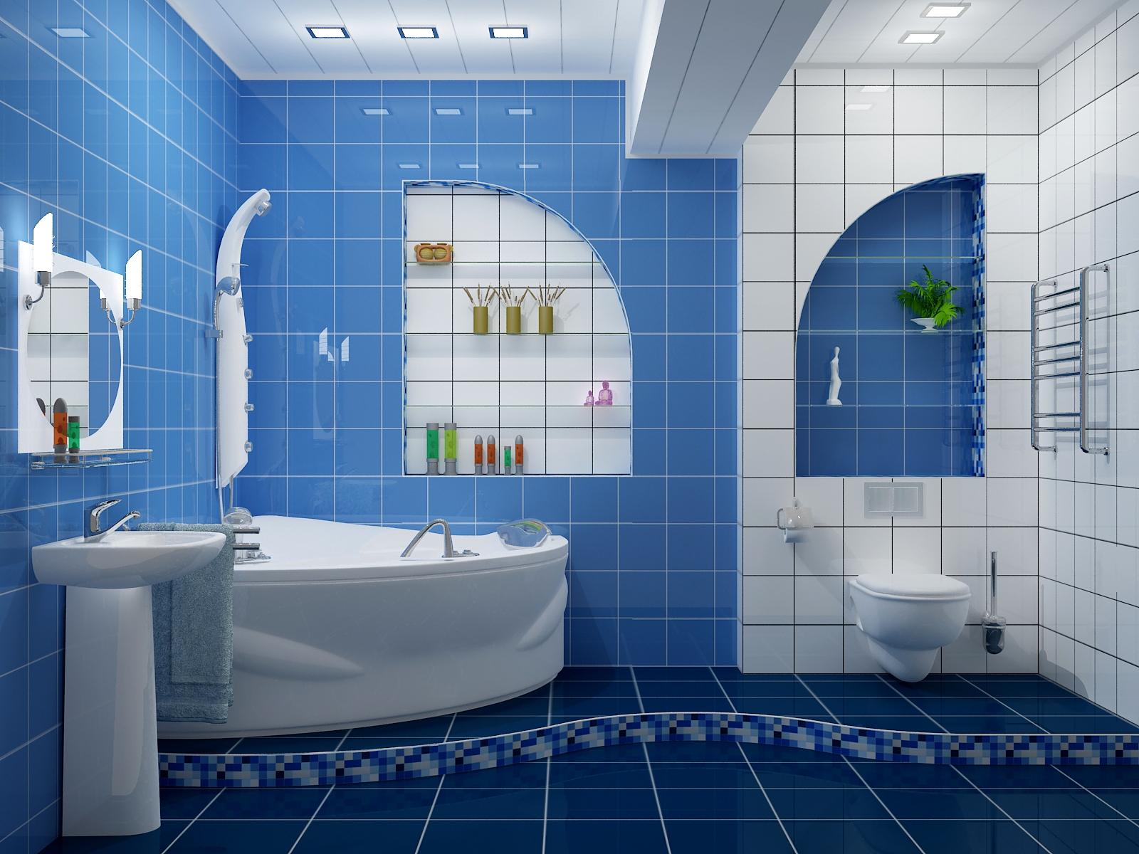 Оформление дизайна в ванной комнате для девушек